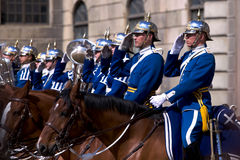 Swedish Royal Guard. With traditional uniform Royalty Free Stock Photos