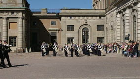 Swedish Royal Guard Change. stock video footage