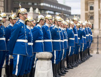 Swedish Royal Guard at the Royal Palace Square Royalty Free Stock Image
