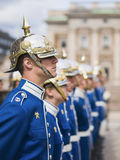 Swedish Royal Guard at the Royal Palace, vertical. Royalty Free Stock Photo