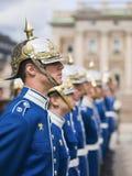 Swedish Royal Guard at the Royal Palace, vertical. Royalty Free Stock Photo