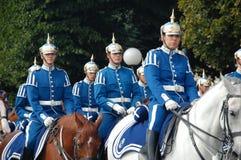 Swedish royal guards on horseback Royalty Free Stock Photography