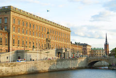 Swedish Royal Palace in Stockholm. The Swedish Royal Palace in Stockholm.  Storkyrkan, the church where Crown Princess Victoria and Prince Daniel married Royalty Free Stock Photos