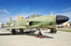 Swedish SAAB fighter jet on September 5, 2015 in Madrid, Spain. Stock Image