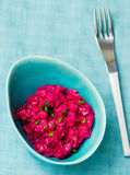 The Swedish salad from a herring and beet Royalty Free Stock Images