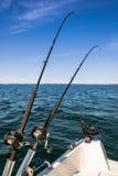 Swedish salmon fishing scenery Stock Images