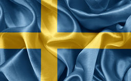 Swedish satin flag Royalty Free Stock Photos
