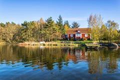 Swedish sea coast scenery in May Stock Photo