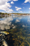 Swedish sea harbor scenery in spring time Royalty Free Stock Photo