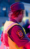 Swedish security guard at concert Stock Photo