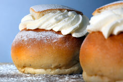 A swedish semla Stock Image