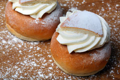 A swedish semla. Photo of a swedish semla, close up Stock Image