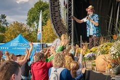 The Swedish singer Harpo in Magdeburg Stock Images
