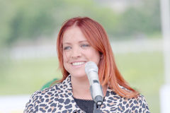 The swedish singing artist Shirley Clamp Royalty Free Stock Photography