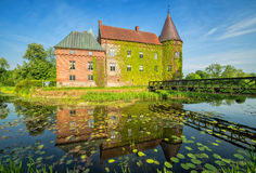 Swedish small castle in Ortofta Royalty Free Stock Photos