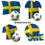 Swedish Soccer Royalty Free Stock Photography