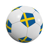 Swedish Soccer Ball Royalty Free Stock Image