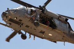 Helicopter in U.S Military Rescue Training Stock Photography