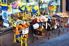 Swedish souvenirs in Stockholm, Sweden Stock Photo