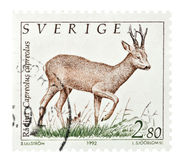 Swedish Stamp Royalty Free Stock Photography