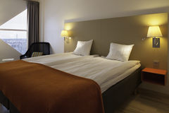 Swedish style hotel room Stock Photos