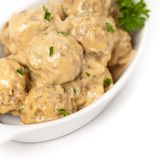 Swedish Style Meatballs Stock Photography