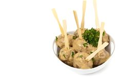 Swedish Style Meatballs Royalty Free Stock Images