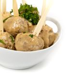 Swedish Style Meatballs Stock Photo