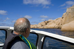 Swedish summer and boating on a sea Royalty Free Stock Images