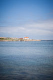 Swedish summer home. Idyllic view of a swedish summer home royalty free stock images