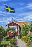 Swedish summer house. In Karlskrona, Sweden royalty free stock photography