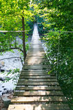 Swedish suspension bridge Royalty Free Stock Image