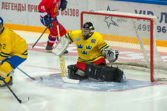 Swedish team Goalkeeper Rolf Wanhainen (30) Royalty Free Stock Photo