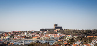 The swedish town of Marstrand stock photo