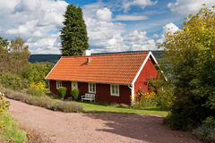 Swedish traditional cottage house Stock Photography