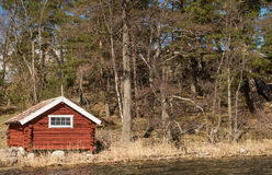 Swedish traditional house Stock Image