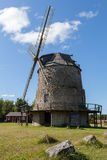 Swedish Traditional Windmill. Öland, Sweden royalty free stock photo