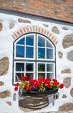 Swedish traditional window outdoor decoration Stock Image