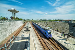 Swedish train station. Central train station in Malmo Hyllie in Sweden Royalty Free Stock Image