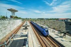 Swedish train station Royalty Free Stock Image