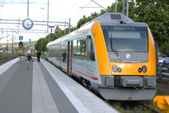 A swedish urban train Royalty Free Stock Images