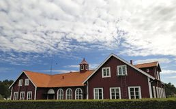 Swedish village public building Royalty Free Stock Image
