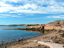 The Swedish West Coast. Beautiful Coastline of the Swedish West Coast Royalty Free Stock Photo