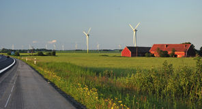 Swedish windmills landscape Stock Photos