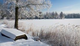 Swedish winter panorama landscape Royalty Free Stock Photos