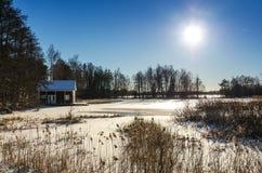 Swedish winter scenery Stock Photo