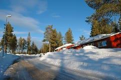 Swedish wooden house Stock Photo