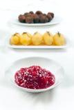 Sweedish Kottbullar meatball sauce potatoes jam Stock Image