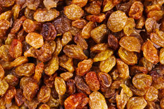 Sweeet gold raisins background Royalty Free Stock Photos