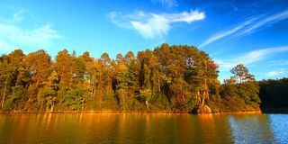Sweeney Lake Northwoods Wisconsin fotografering för bildbyråer
